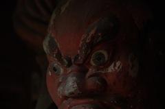 古刹・杉本寺の金剛像…3