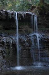 古刹の小滝…2