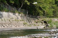 川遊び…。
