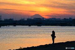 夕暮れの釣り人Ⅱ