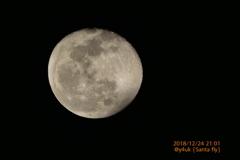 21:01Xmas Eve Moon〜凍てつく夜空に月、サンタさんが横ぎった!