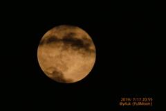 20:55FullMoon〜雲の隙間、お満月(1500mmスポット測光TZ85)