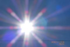 10:30_2019Start!初日のデんせん穏やか青空太陽sky(120mm)