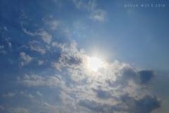 """貴重だった今年5月の青空、雲〜blue sky """"Under The Sun"""""""
