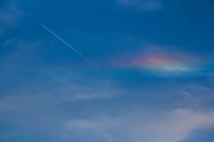 おかしな虹が・・・