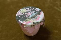 絹ごし春の桜プリン