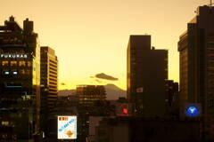 仕事納めの日 富士山
