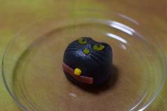 創作和菓子 ハロウィン 黒猫