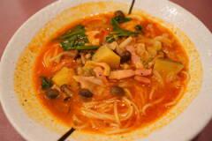 たっぷりいろいろ野菜のスープパスタ(トマト)