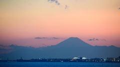 夕方の富士山 2016/2/26