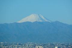 品川から見た富士山