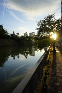 福井の夕景
