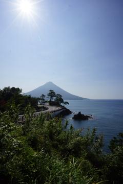 開聞岳(由比の景色風)