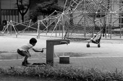公園の少年