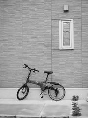 自転車のある家
