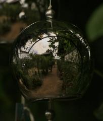 風鈴に映る光景