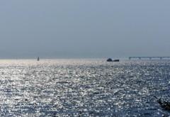 関空沖の光景