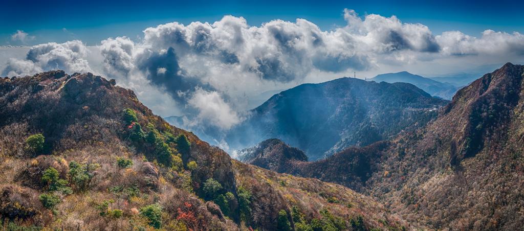 普賢岳から南のパノラマ