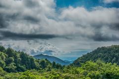 低い雲の下の佐賀平野