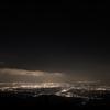 夜景とオリオン座
