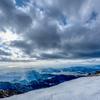 残雪の天山から雲仙方面