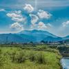 雲が晴れた八幡岳