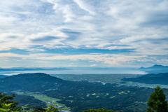 八幡岳から有明海
