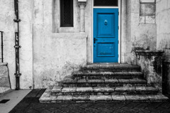 House of a blue door #1