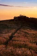 高原の黄昏