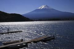 富士の見える桟橋