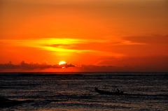 インドネシアの夕日