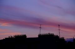 パリで見た夕焼け