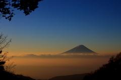乙女高原より富士山の朝焼け