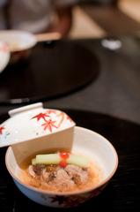 京都 一の傳 京好物の蓮蒸し