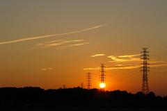 ゆっくりと沈む夕日
