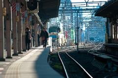 中野駅 整列美 朝風景