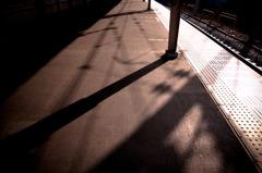 中野駅 朝風景 ホーム