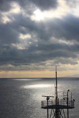 海に落ちる日ざし