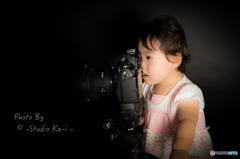 カメラ女子 構図チェック中・・・
