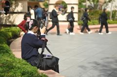 カメラ女子学生