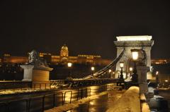 くさり橋と旧王宮