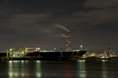 tanker in the dark