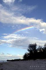 虹、多良間島にて。