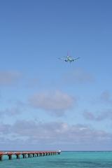 空と海と、そして飛行機