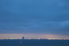 Cloudy Tokyo bay