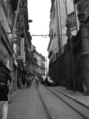 Alley of tram in Porto