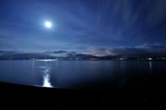Moon light lake.