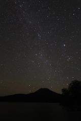 阿寒湖の星空