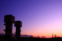 水門と落陽