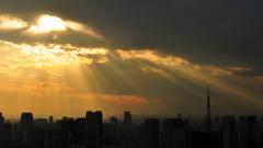 昨日の夕景α